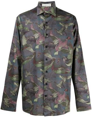 Etro Bird-Print Long-Sleeve Shirt