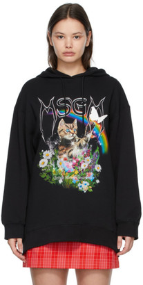 MSGM Black Cat Hoodie