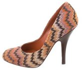 Missoni Woven Round-Toe Pumps
