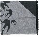 McQ by Alexander McQueen swallow print scarf
