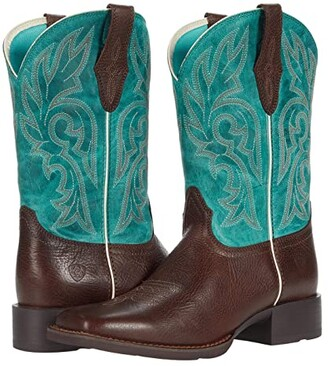 Ariat Cattle Drive (Dark Cottage/Turquoise) Cowboy Boots
