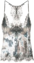 Gold Hawk abstract print camisole