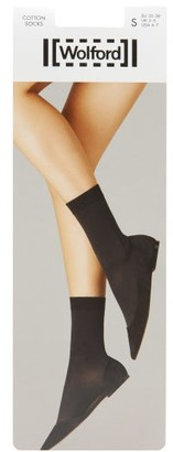 Wolford Cotton-blend Ankle Socks - White