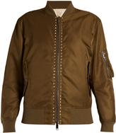 Valentino Rockstud-embellished shell bomber jacket