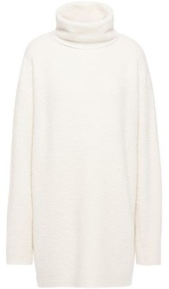 The Row Gene Oversized Boucle-knit Cashmere And Silk-blend Turtleneck Sweater