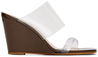 Maryam Nassir Zadeh Brown Patent Olympia Sandals