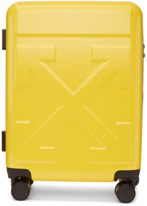 Off-White Yellow Arrows Trolley Carry-On Suitcase