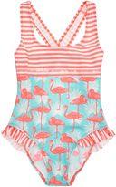 Billieblush Girls Sequin Swimsuit