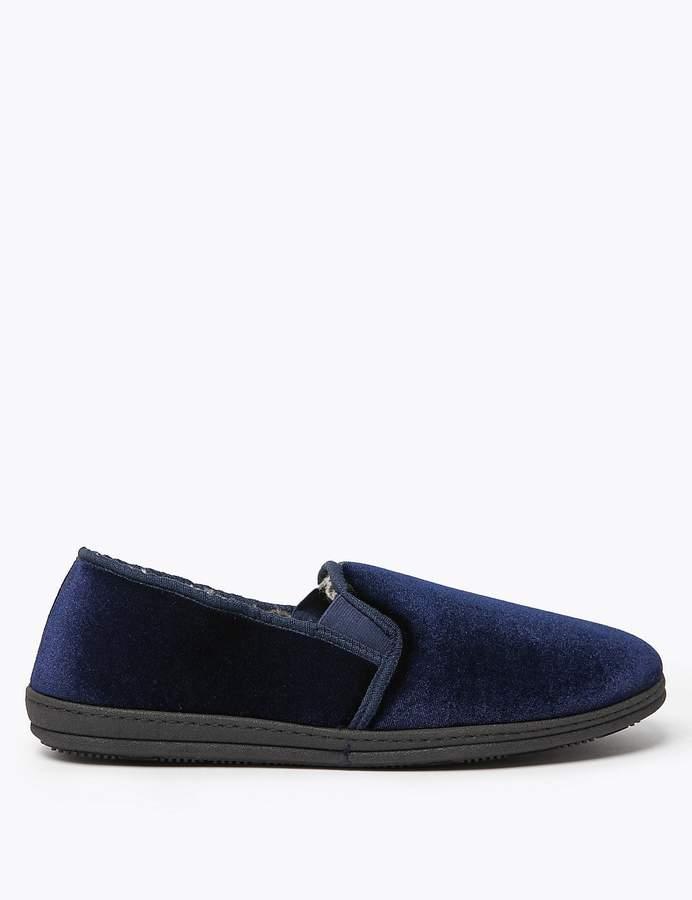 Marks and Spencer Velour Slippers
