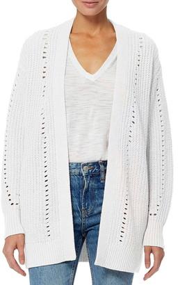 360 Cashmere Rose Pointelle Knit Organic Cotton Cardigan