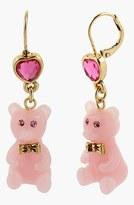 Betsey Johnson 'Vintage Bow' Bear Drop Earrings