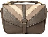 Imoshion Gray & Tan Chevron Crossbody Bag