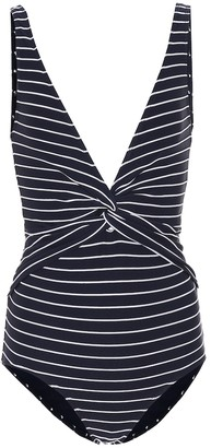 Jonathan Simkhai Striped knot swimsuit