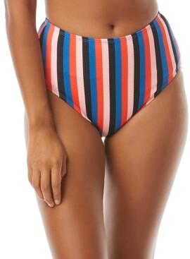 Kate Spade Striped High-Waist Bikini Bottom Women's Swimsuit