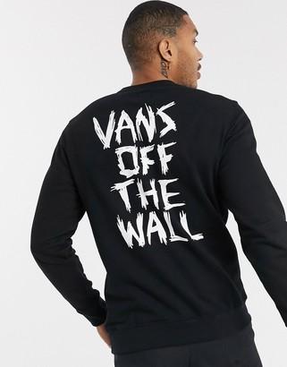 Vans Scratched sweatshirt in black