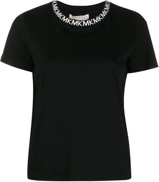 MICHAEL Michael Kors branded neckline T-shirt