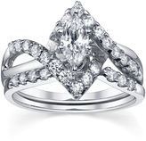 MODERN BRIDE Diamonore 1-1/5 CT. T.W. Simulated Diamond Marquise-Cut Bridal Ring Set