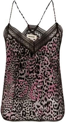 Zadig & Voltaire Christy leopard-print cami top