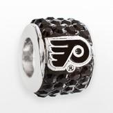 Swarovski Logoart LogoArt Philadelphia Flyers Sterling Silver Crystal Logo Bead - Made with Crystals