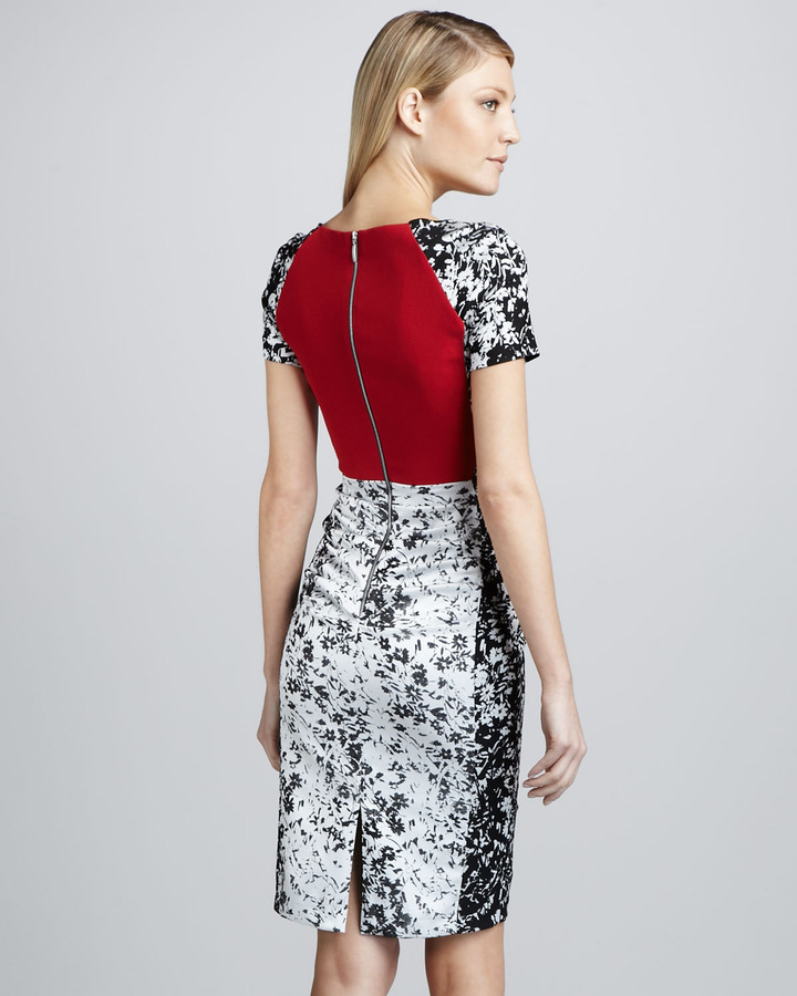 Talbot Runhof Printed Cocktail Dress