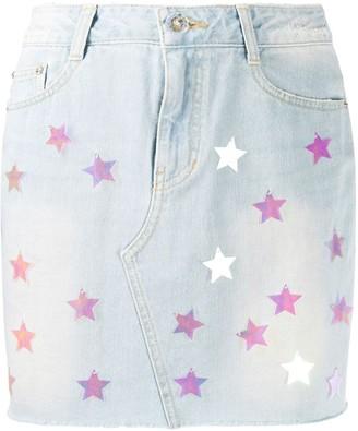 Sjyp Star Spangle Denim Skirt