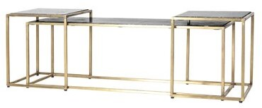 Thumbnail for your product : By Boo Frame 3 Bunching Tables Table Top Color: Black