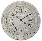 Casa Uno Hotel Capital Clock, White, 68cm