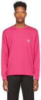 Carhartt Work In Progress Pink Pocket Long Sleeve T-Shirt