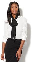 New York & Co. 7th Avenue - Colorblock Tie-Accent Blouse