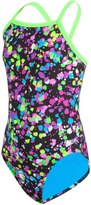 Speedo Flipturns Spectacular Splatter Propel Back Youth Swimsuit 8133077