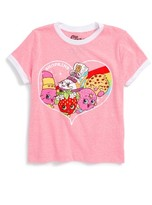 Mighty Fine Toddler Girl's Shopkins Heart Burst Graphic Tee