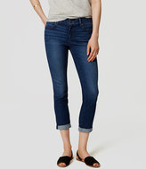 LOFT Tall Skinny Crop Jeans in Vivid Dark Indigo