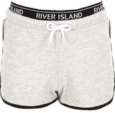 River Island Girls RI Active grey marl runner shorts