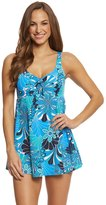 Penbrooke Shell A Go Go Bow Front Swimdress 8150440