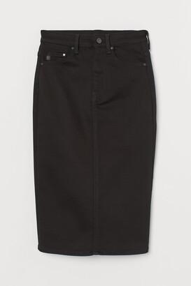 H&M Shaping denim pencil skirt