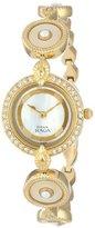 Titan Women's 9903YM02 Theme Raga Intricate Swarovski Elements Jewelry Inspired Gold-Tone Watch