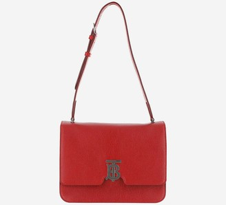 Burberry Bright Red Leather Shoulder Bag