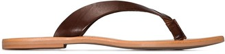 ST. AGNI Basik leather flip flops