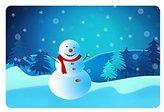 Bling Today doormats Christmas Gift Holiday Winter Snowman Decor Printed Coir Doormat Door mat