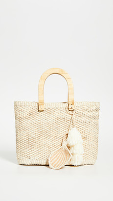 Sensi Canasta Wooden Handle Bag