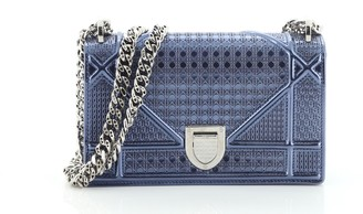 Christian Dior Diorama Flap Bag Cannage Embossed Calfskin Small