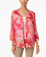JM Collection Linen Open-Front Jacket, Only at Macy's