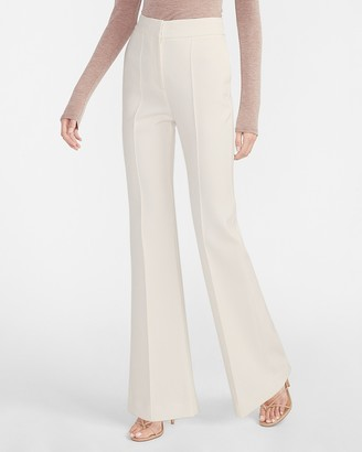 Express High Waisted Seamed Front Flare Pant