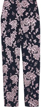 Mason by Michelle Mason Metallic Floral-jacquard Tapered Pants