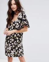 Fashion Union Tie Back Dress In Floral