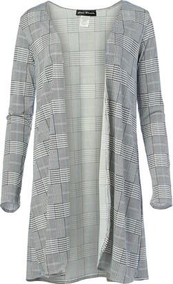 Star Vixen Women's Plus Size Long Sleeve Open Front Cardigan