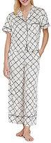 Kate Spade Quilt-Print Charmeuse Pajamas