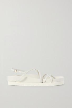 Co Leather Platform Sandals - Ivory