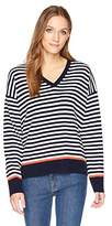Equipment Women's Stripe With Tipping Lucinda V-Neck Sweater