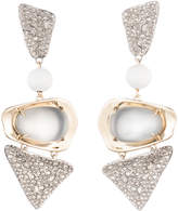 Alexis Bittar Crystal Encrusted With Matte White Accent Dangling Lucite Clip Earring